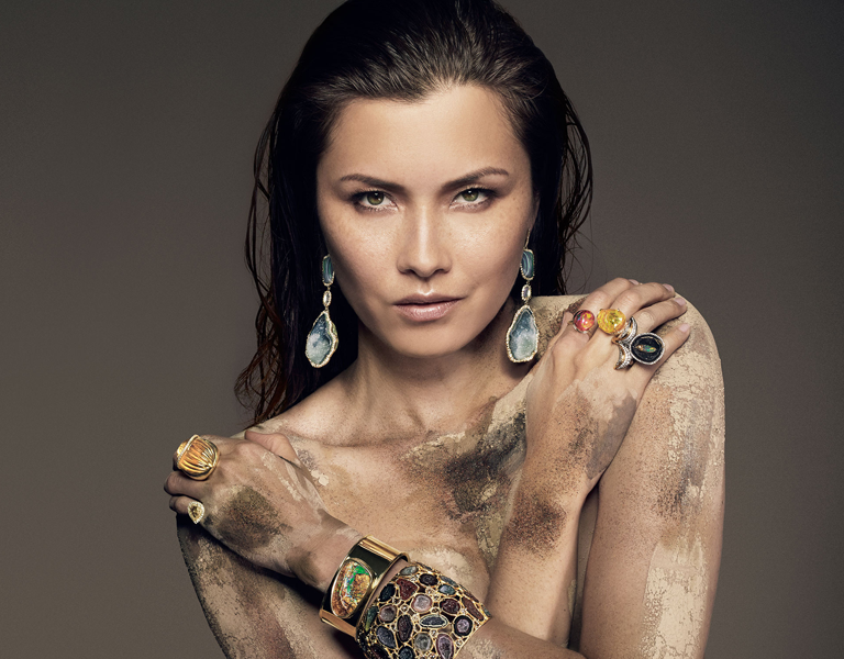 Model covered in Kimberly McDonald sustainable jewellery