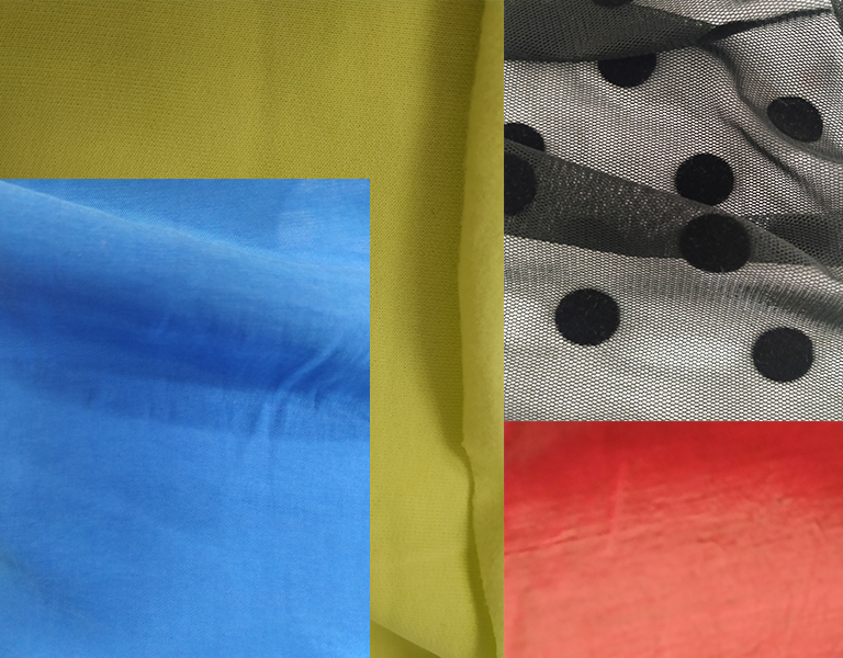 Montage of colourful fabrics